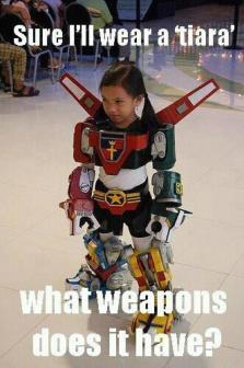 Sure, I'll wear a tiara. What weapons does it have?