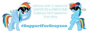 Support for Grayson on Facebook